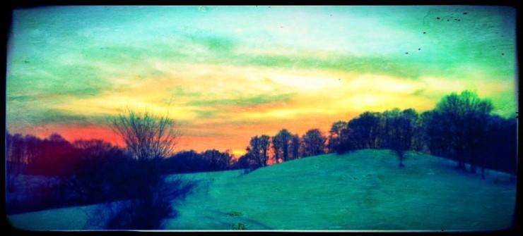 Залез на пътеката към хижа Рай